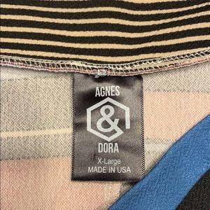 Agnes & Dora Skirts - Size XL Agnes & Dora Striped A-Line  Skirt